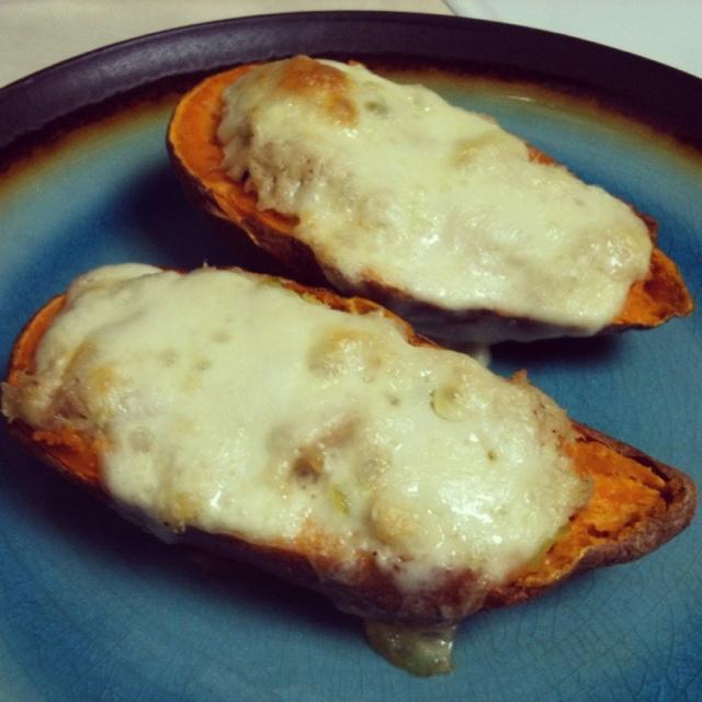 food: sweet potato tuna melt (2/2)